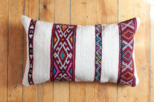 "Rad Moroccan Wedding Blanket Pillow, 23"" x 14"" (the second pillow from a set of two)"