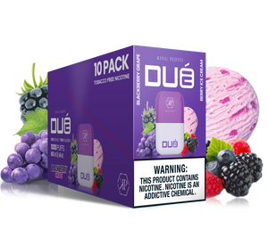 KING PLUTO - DUÉ  10-pack- BLACKBERRY GRAPE X BERRY ICE CREAM