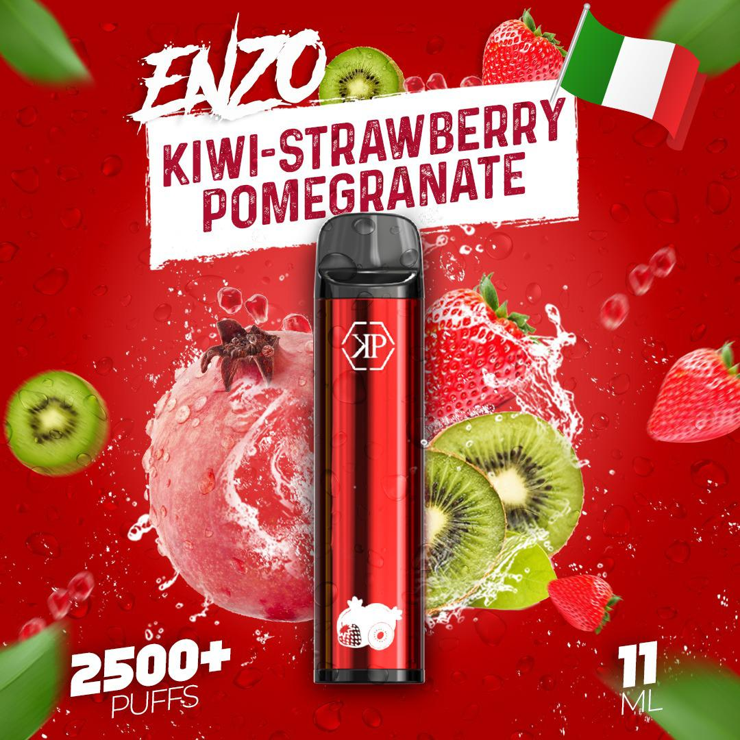 KING PLUTO ENZO - STRAWBERRY KIWI POMEGRANATE 10-pack - The Loon Wholesale