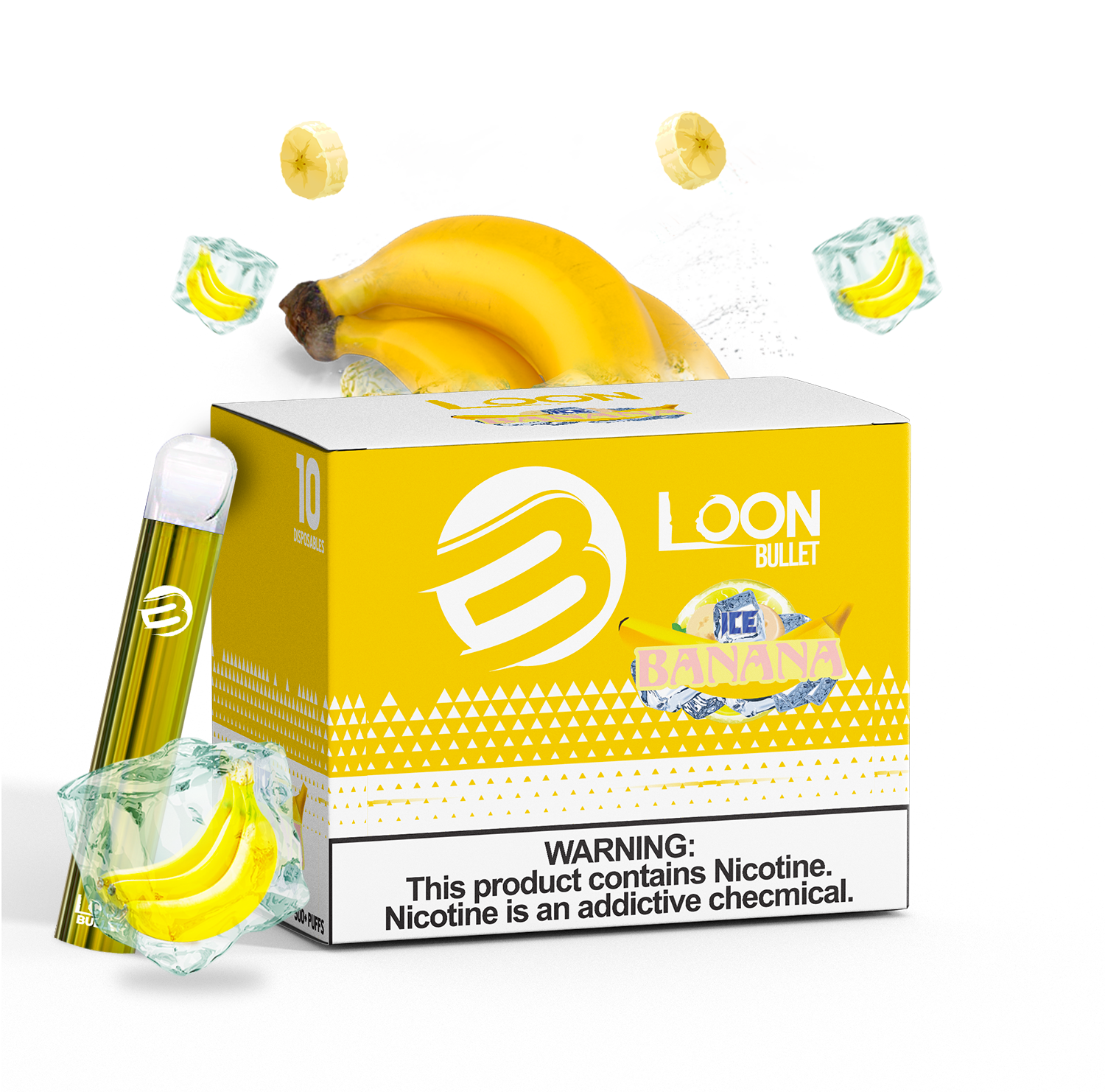 LOON BULLET ICED BANANA 10-PACK - The Loon Wholesale