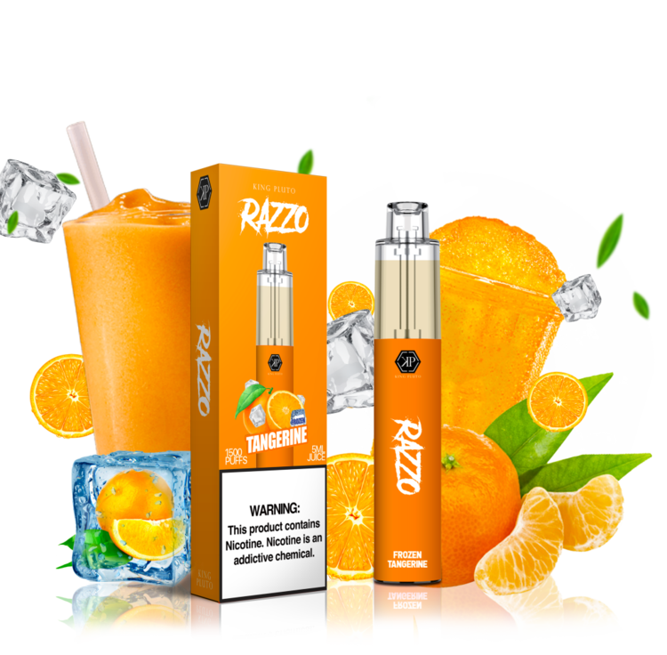 KING PLUTO - RAZZO 10-PACK - FROZEN TANGERINE - The Loon Wholesale