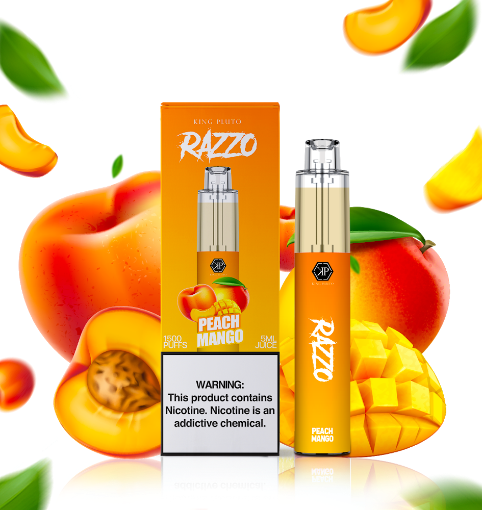 KING PLUTO - RAZZO 10-PACK - PEACH MANGO - The Loon Wholesale