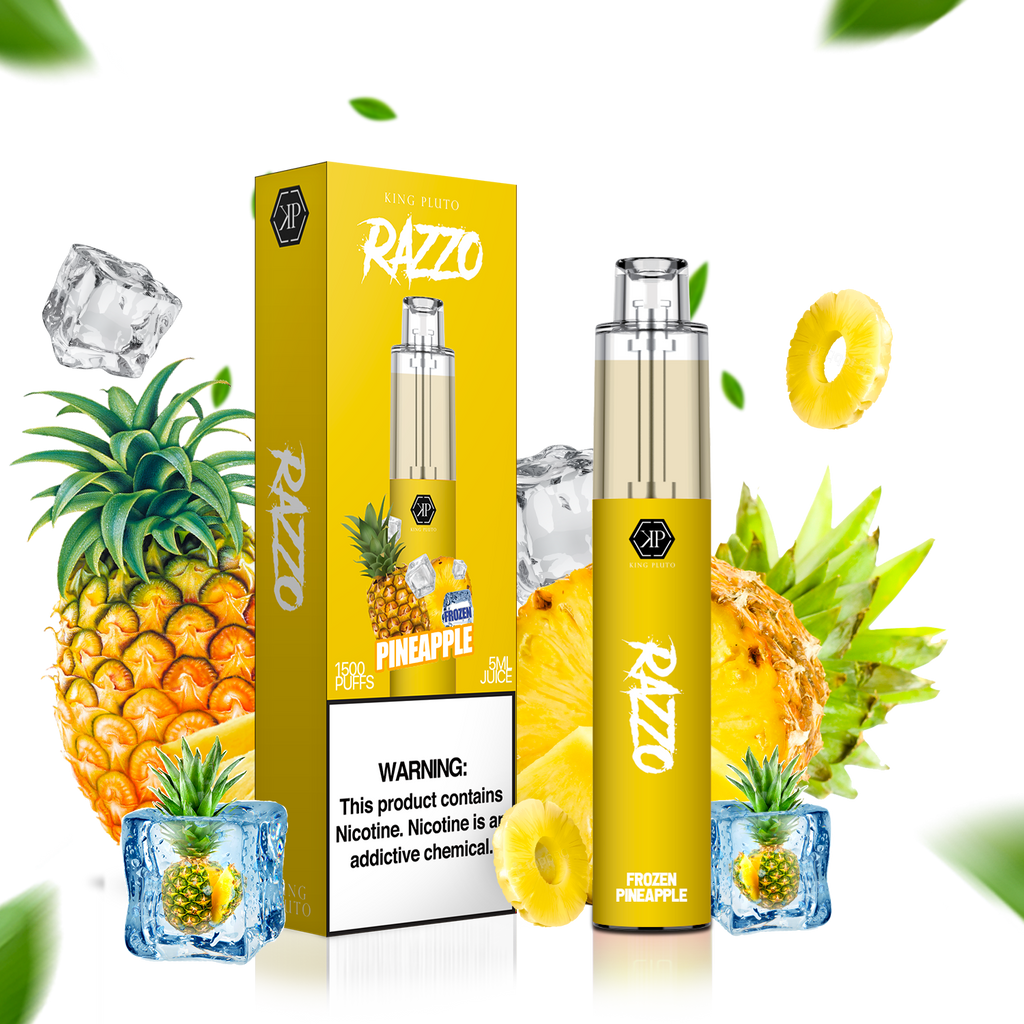 KING PLUTO - RAZZO 10-PACK - FROZEN PINEAPPLE - The Loon Wholesale