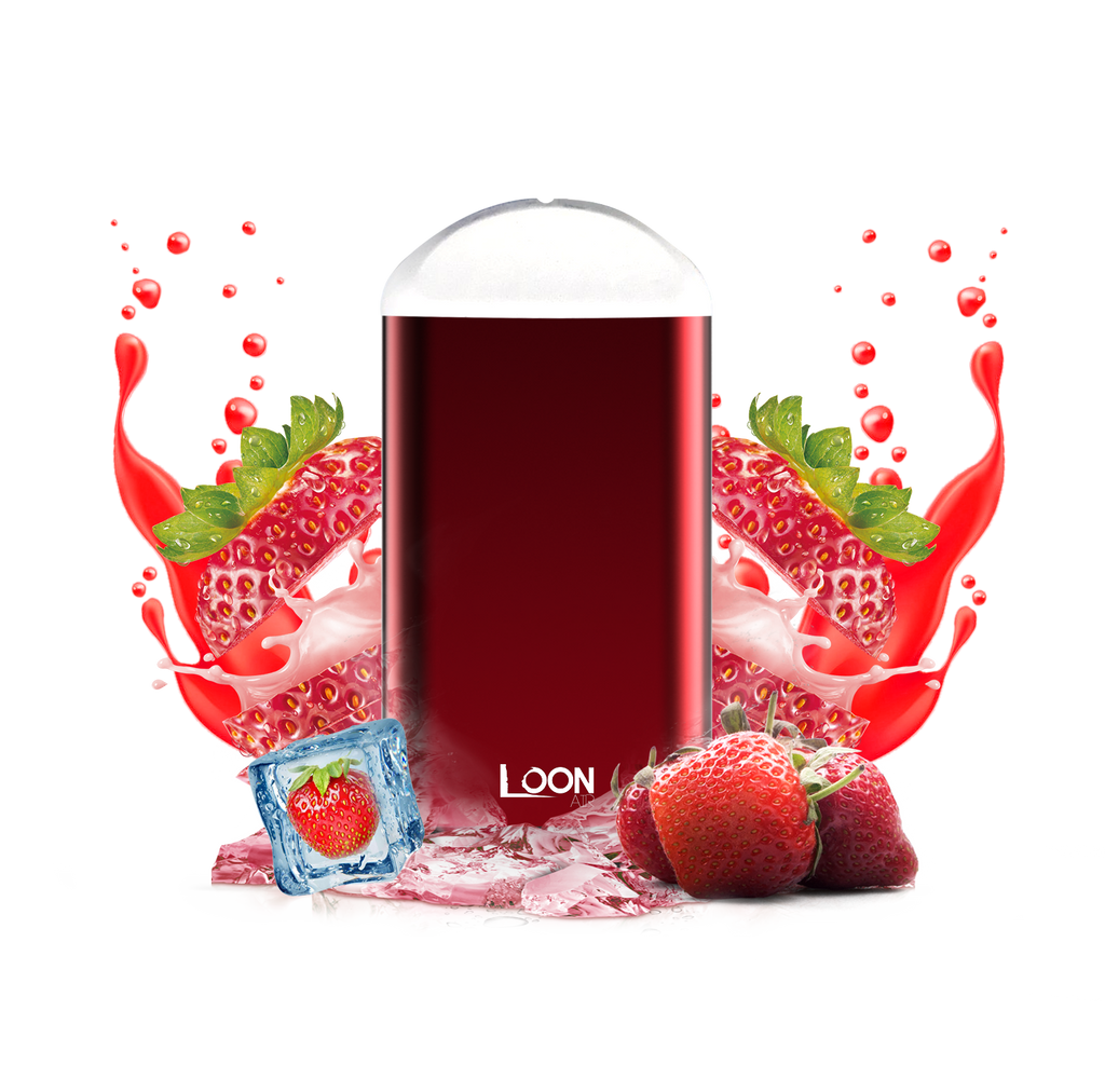LOON AIR ICED STRAWBERRY 5-PACK - The Loon Wholesale