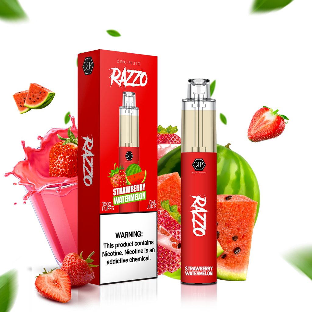KING PLUTO - RAZZO 10-PACK - STRAWBERRY WATERMELON - The Loon Wholesale