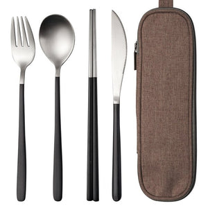 Stainless Steel Cutlery Set with Bag