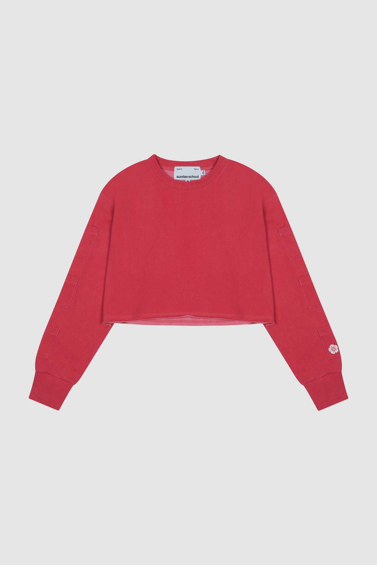 Photo of Goji Berry Women's Cropped Crewneck, number 2