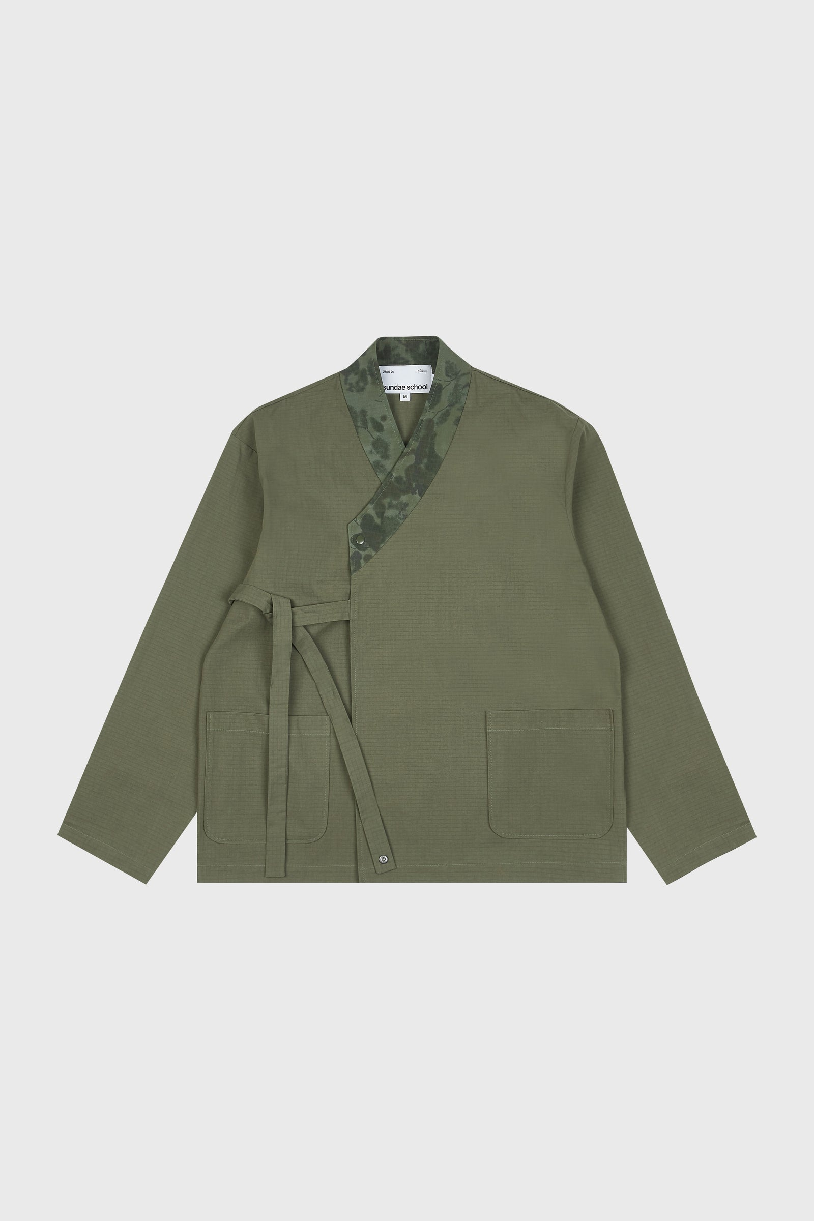 Photo of Army Green Double Layered Jeogori Bomber Jacket, number 3