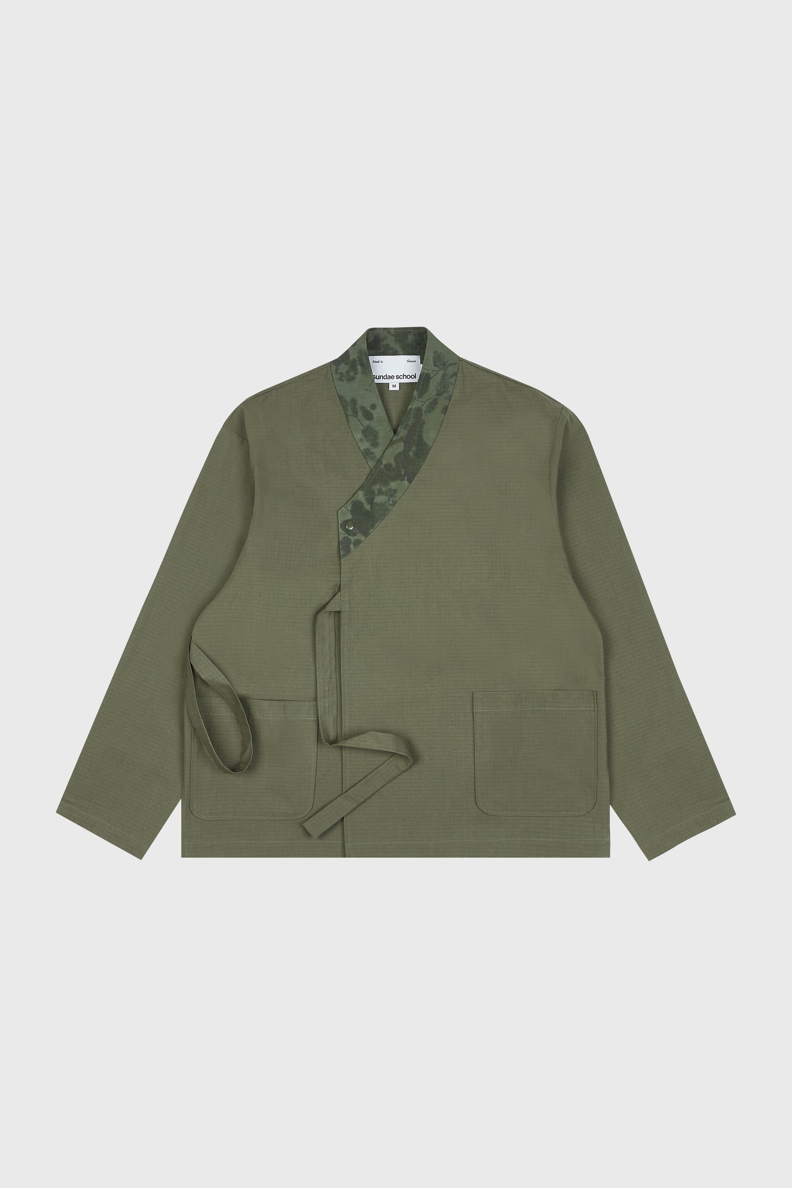 Photo of Army Green Double Layered Jeogori Bomber Jacket, number 8