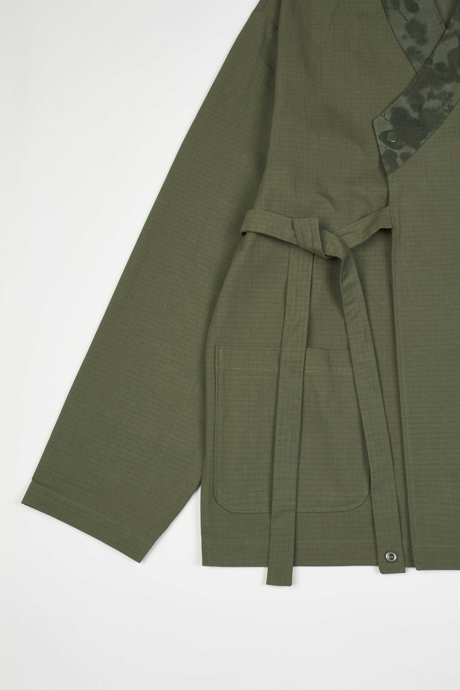 Photo of Army Green Double Layered Jeogori Bomber Jacket, number 13