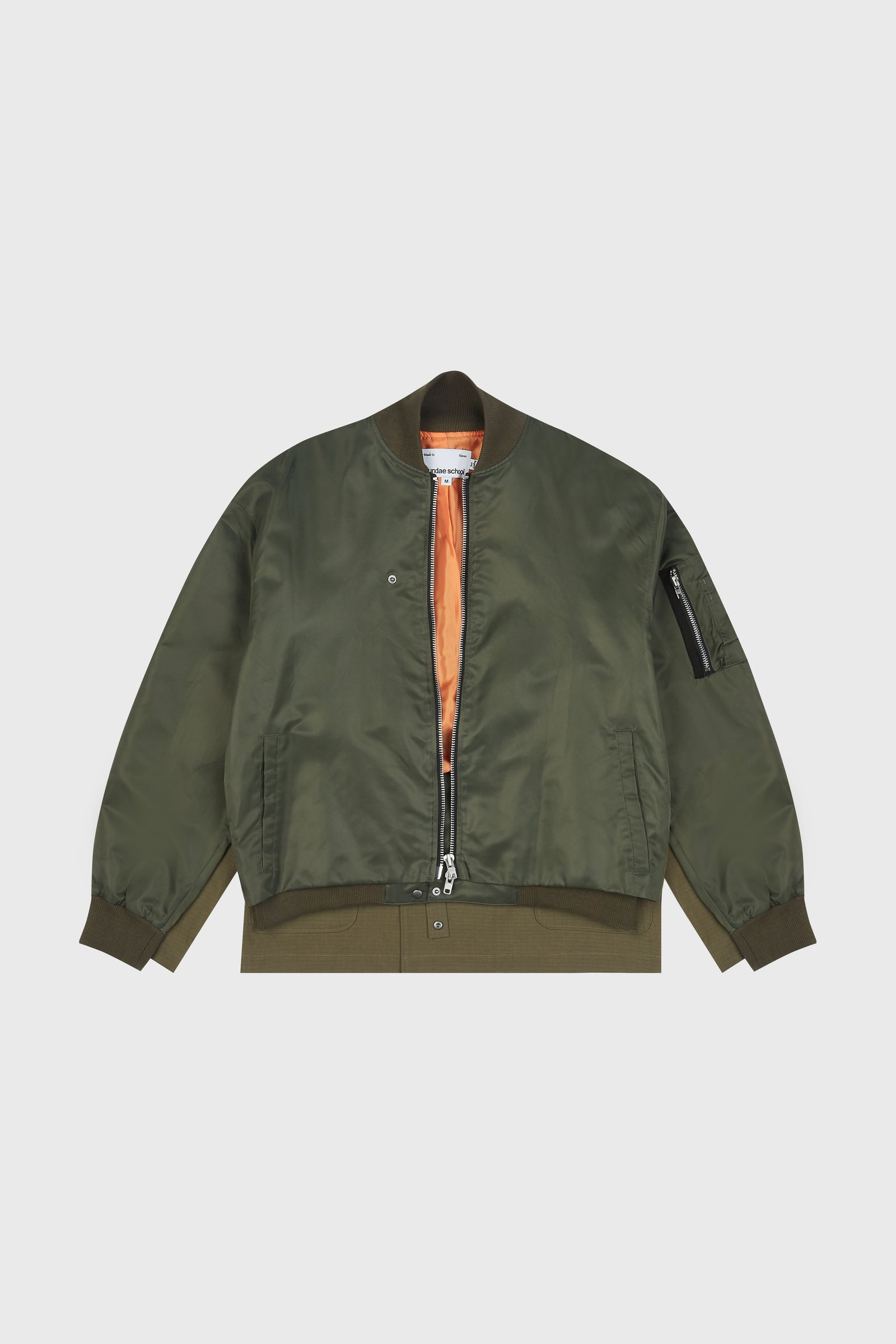 Photo of Army Green Double Layered Jeogori Bomber Jacket, number 10