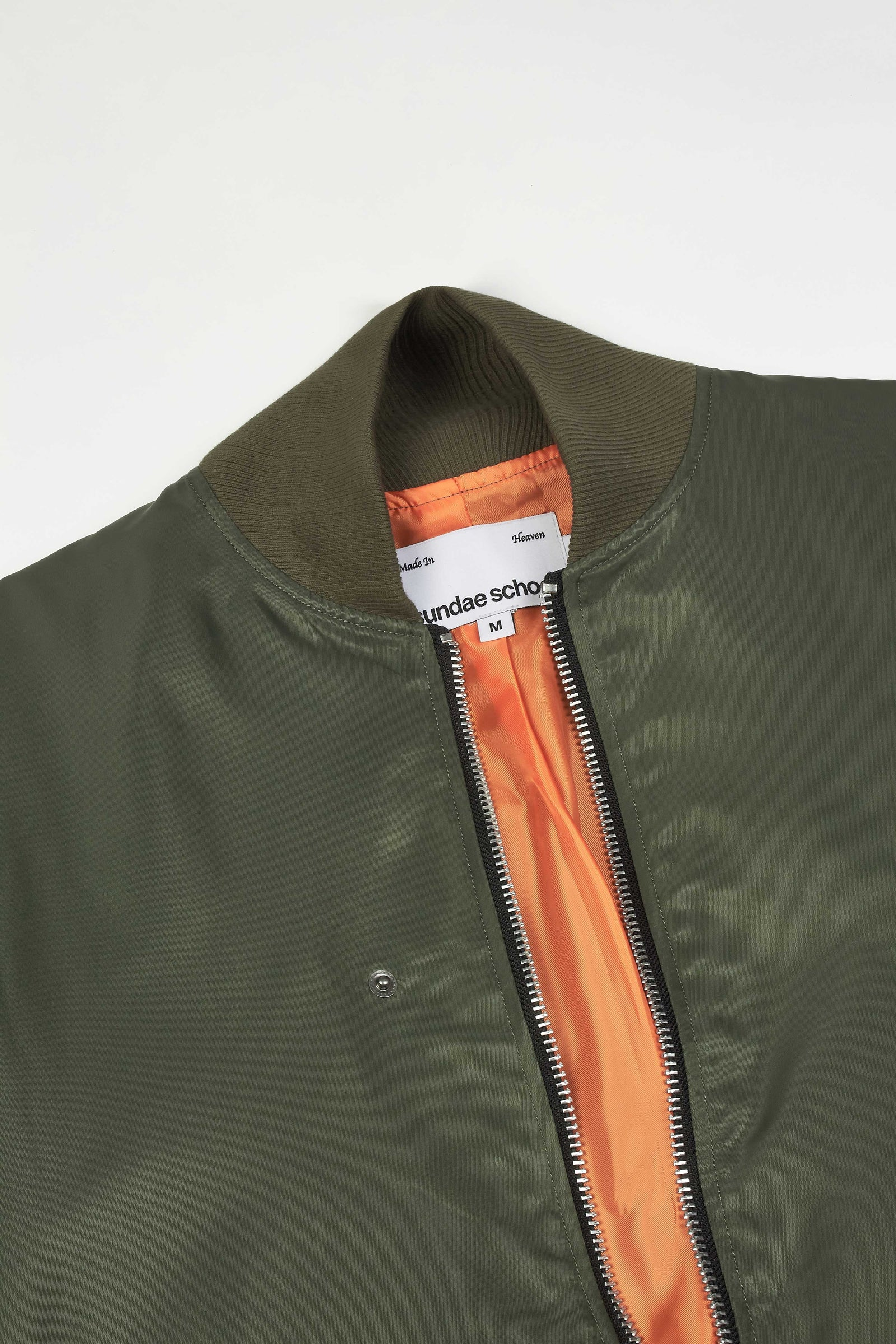 Photo of Army Green Double Layered Jeogori Bomber Jacket, number 11