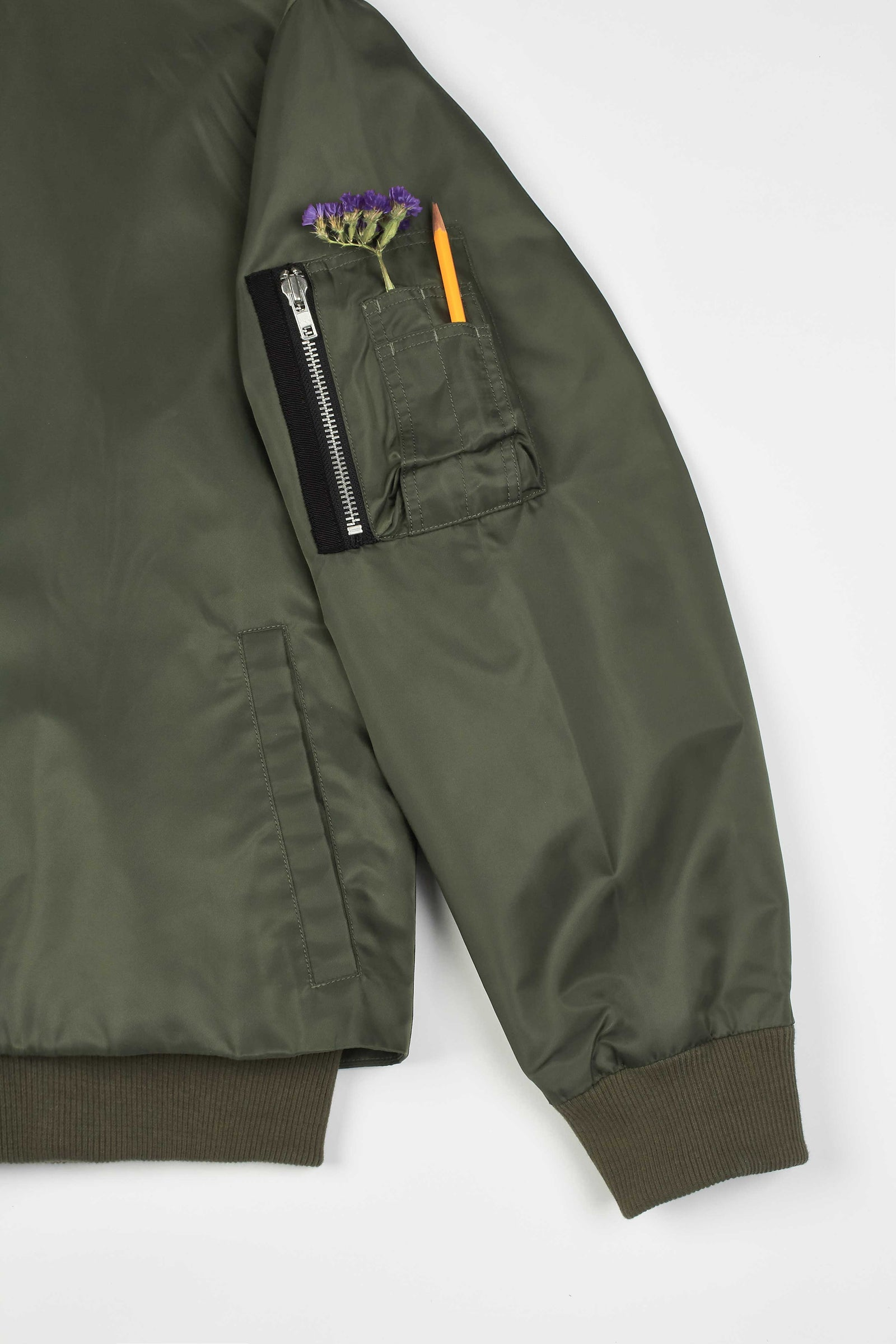 Photo of Army Green Double Layered Jeogori Bomber Jacket, number 16