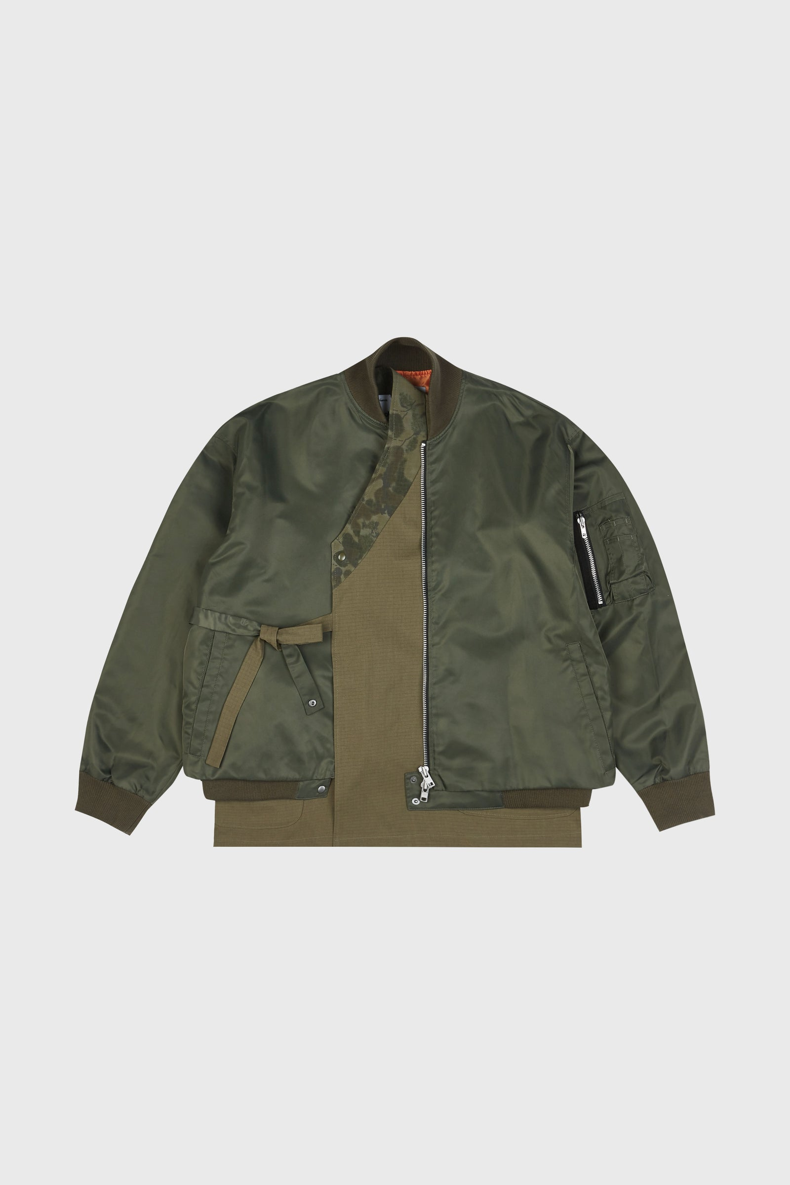 Photo of Army Green Double Layered Jeogori Bomber Jacket, number 2