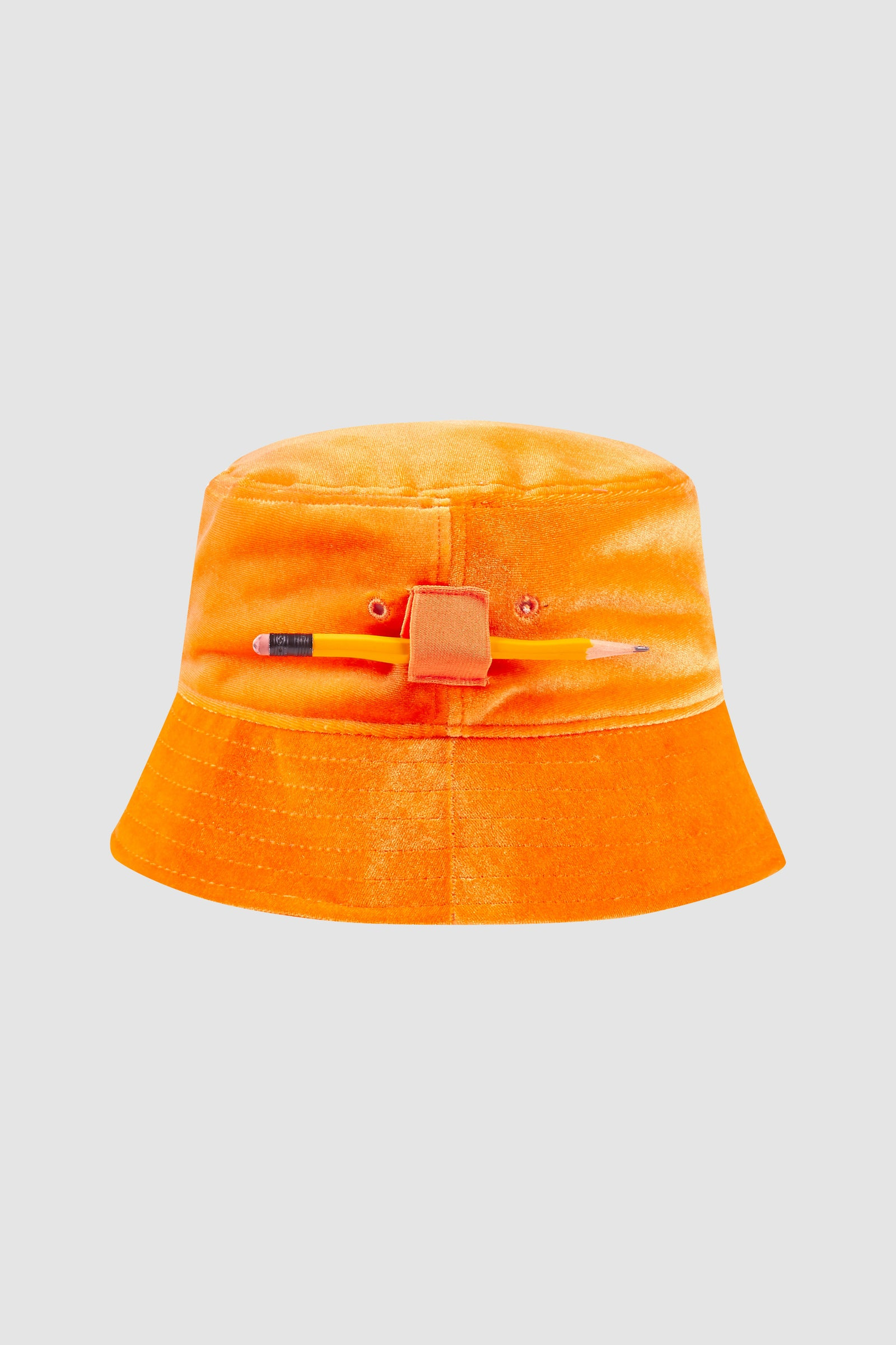 Orange Velvet Smoking Bucket Hat