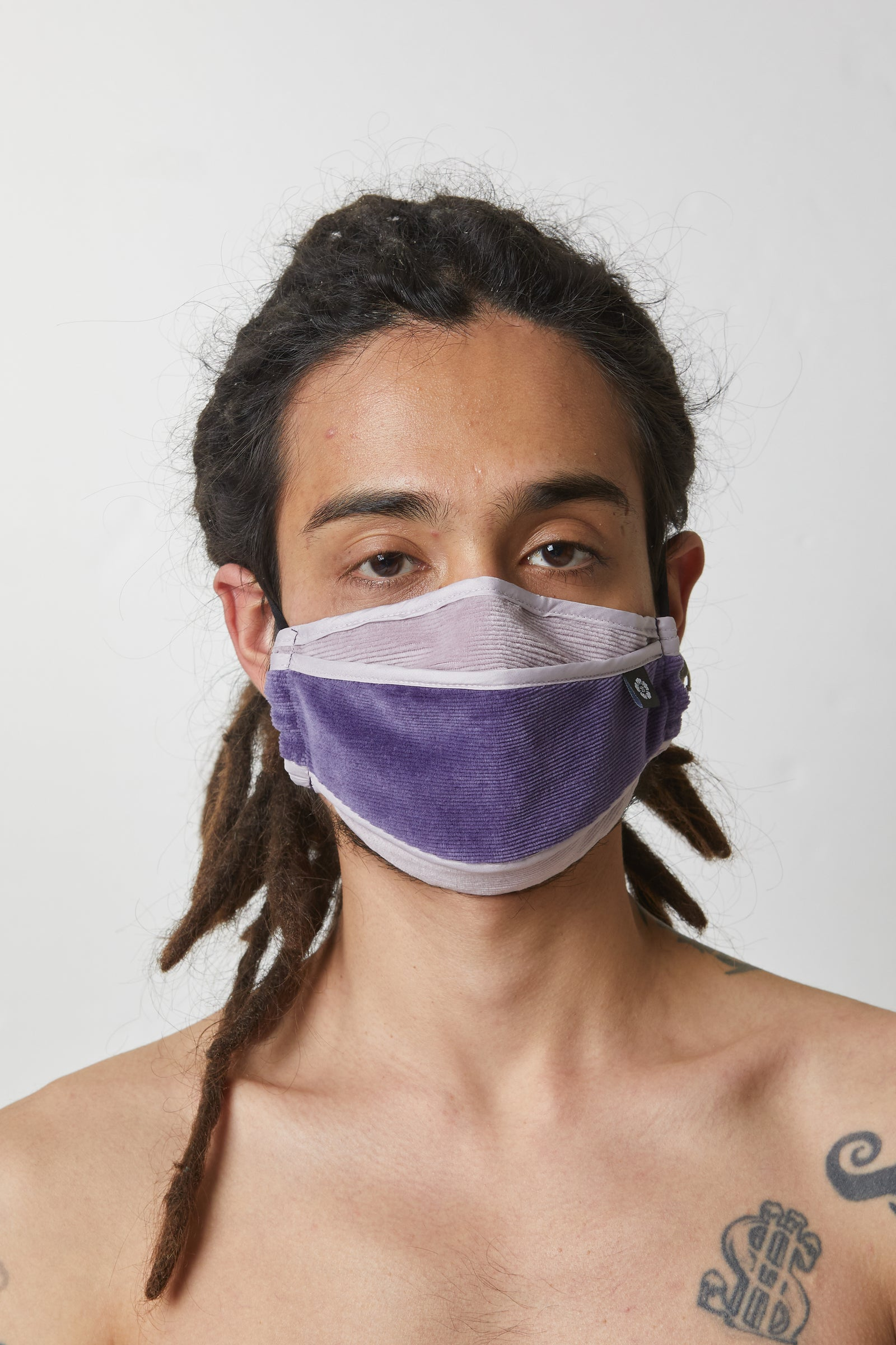 Photo of Purple Velvet Corduroy Mask, number 4