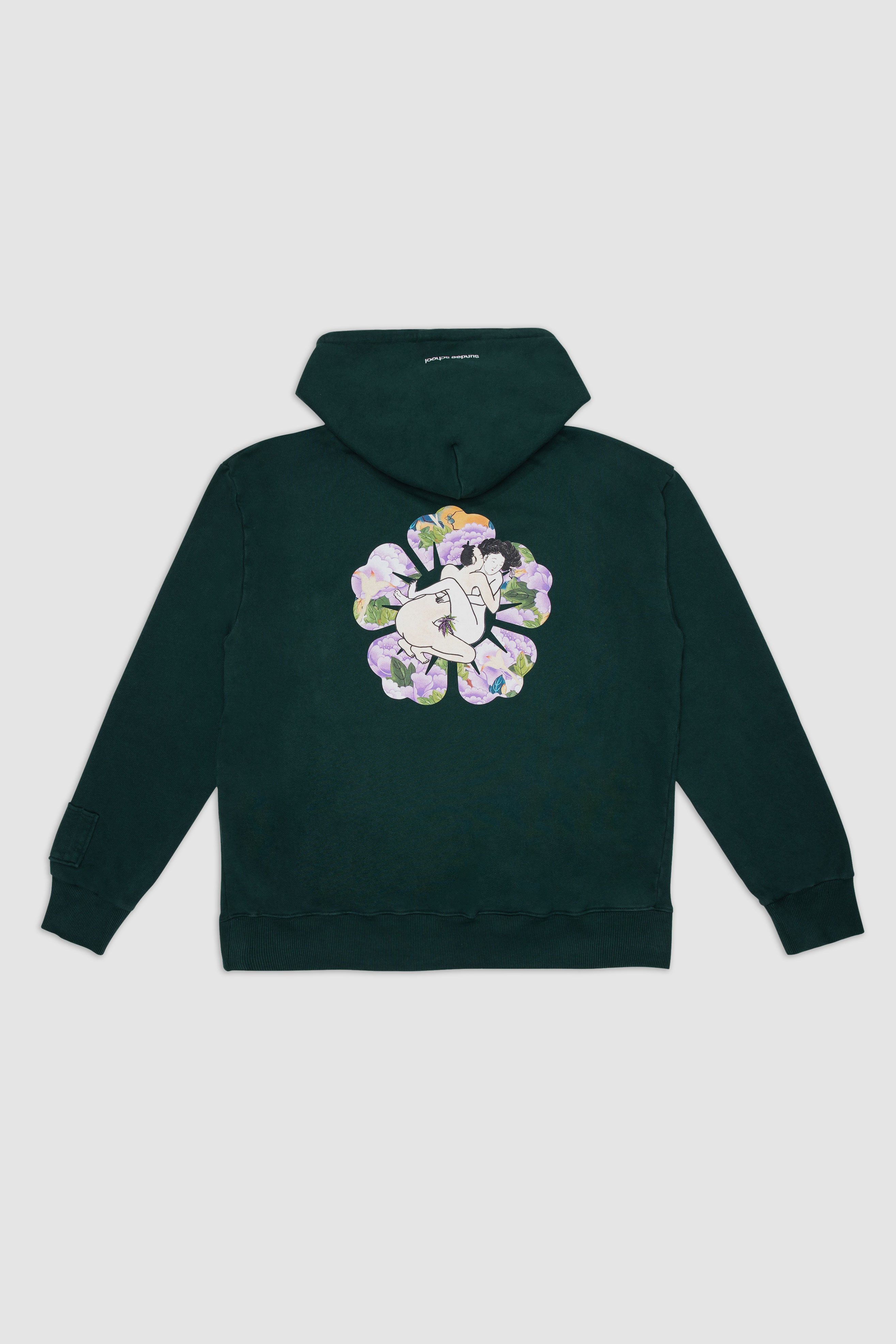 Day 3: Love In The Flower Hoodie / Dark Green