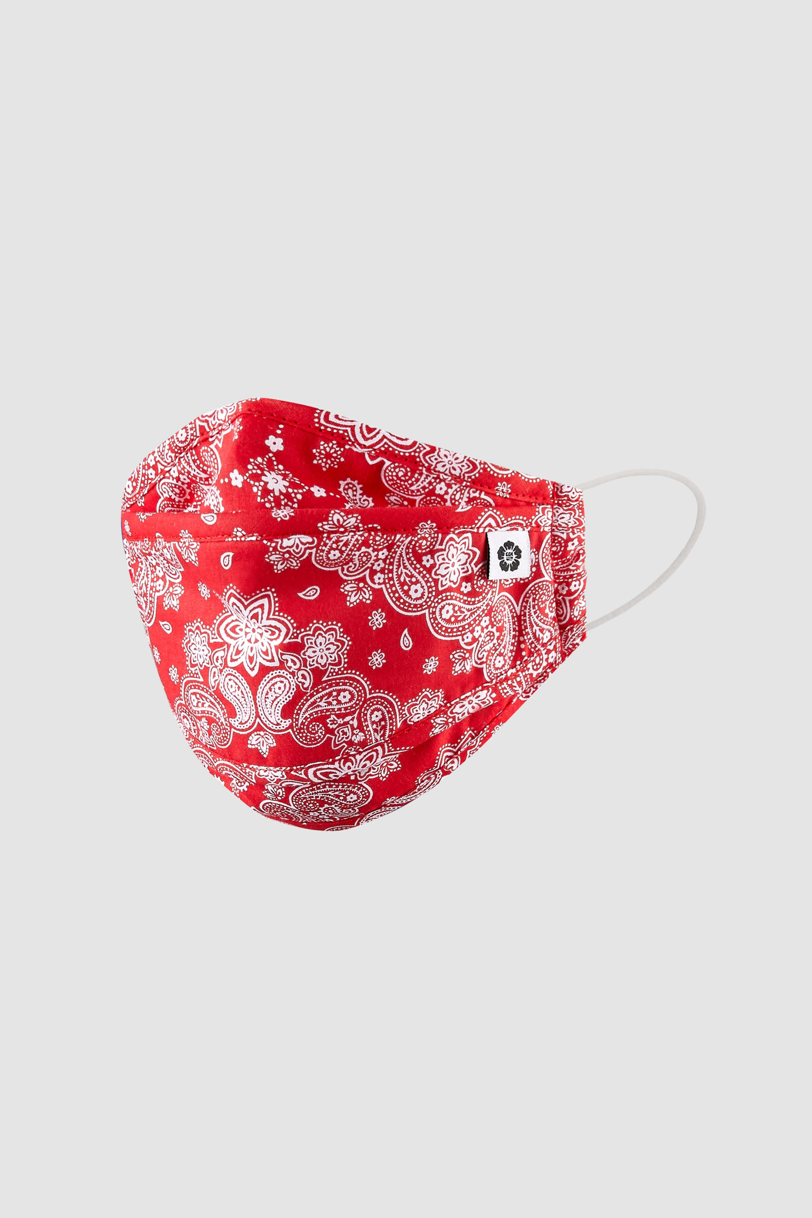 Red Paisley Mask