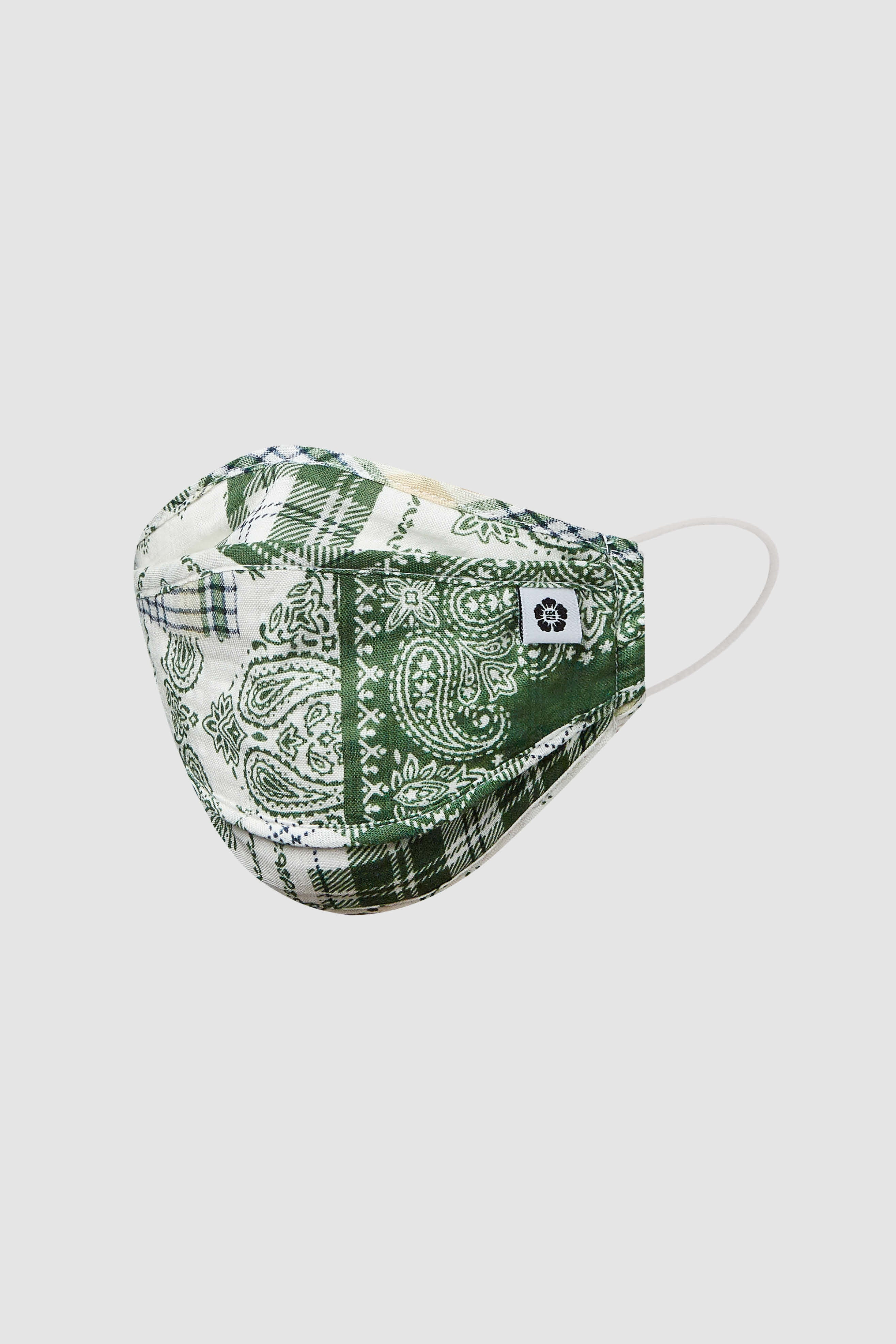 Green Plaid Mask