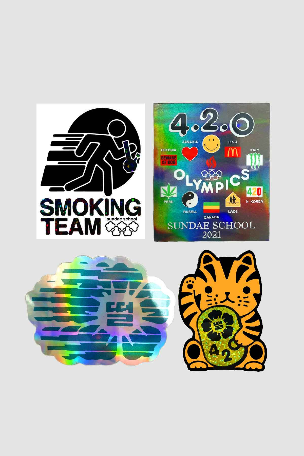Photo of 42Olympics Sundae School Mini Sticker Pack (4 pcs), number 2