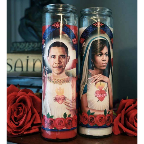 *RARE* Saint Saint Michelle and Barack Obama Prayer Candle (HOT)