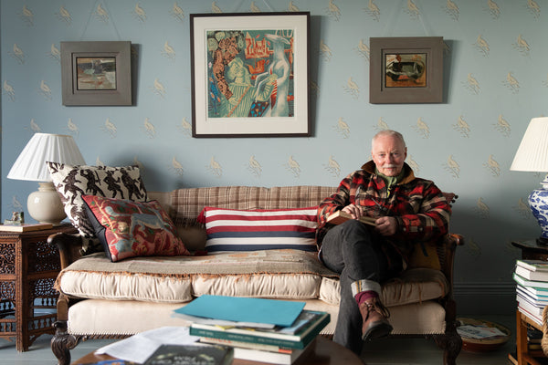 The artist Clive Hicks-Jenkins at his home in Wales