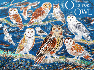 o is for Owl, an original print by Emily Sutton and the Penfold Press