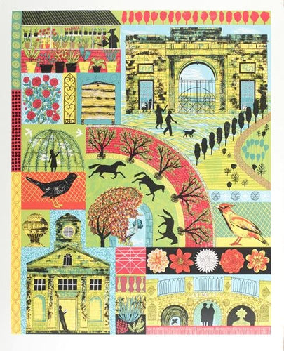 Of House and Home, a screen print by Alice Pattullo.