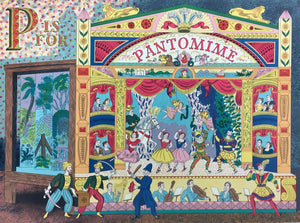 P is for Pantomime, an original print by Emily Sutton and the Penfold Press