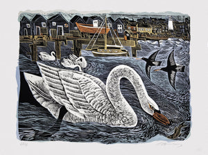 Southwold Swan - Angela Harding and Penfold Press