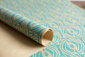 Spinner patterned paper, designed by Mark Hearld for the Penfold Press