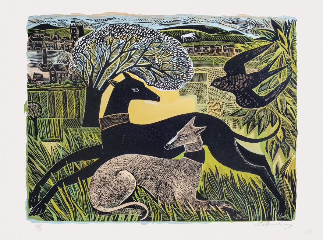 Two Yorkshire Whippets - Angela Harding and Penfold Press