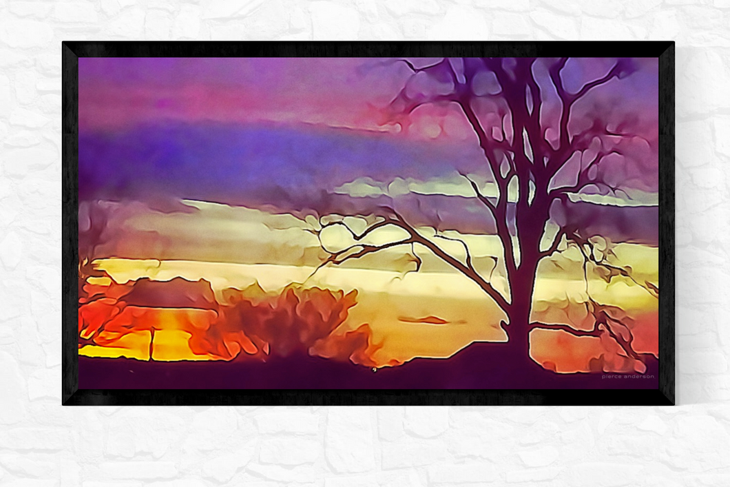 Purple sunrise | Pierce Anderson Artwork