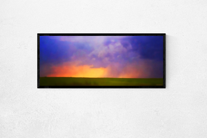 Golden Storm: Watercolor Canvas Art by Pierce Anderson