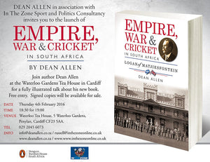 Empire, War, Cricket - Waterloo Gardens Teahouse - Thursday 4th February