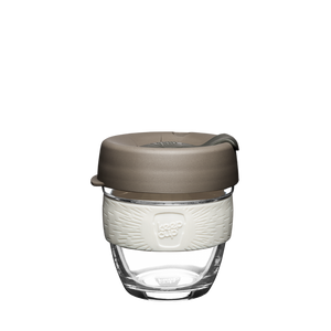 KeepCup 8oz-Clear-White&grey