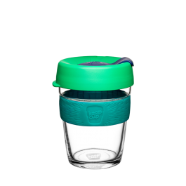 KeepCup 8oz- Clear- Green& aqua