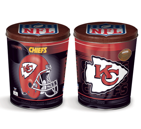 Chiefs Popcorn Tin - popcorn jungle