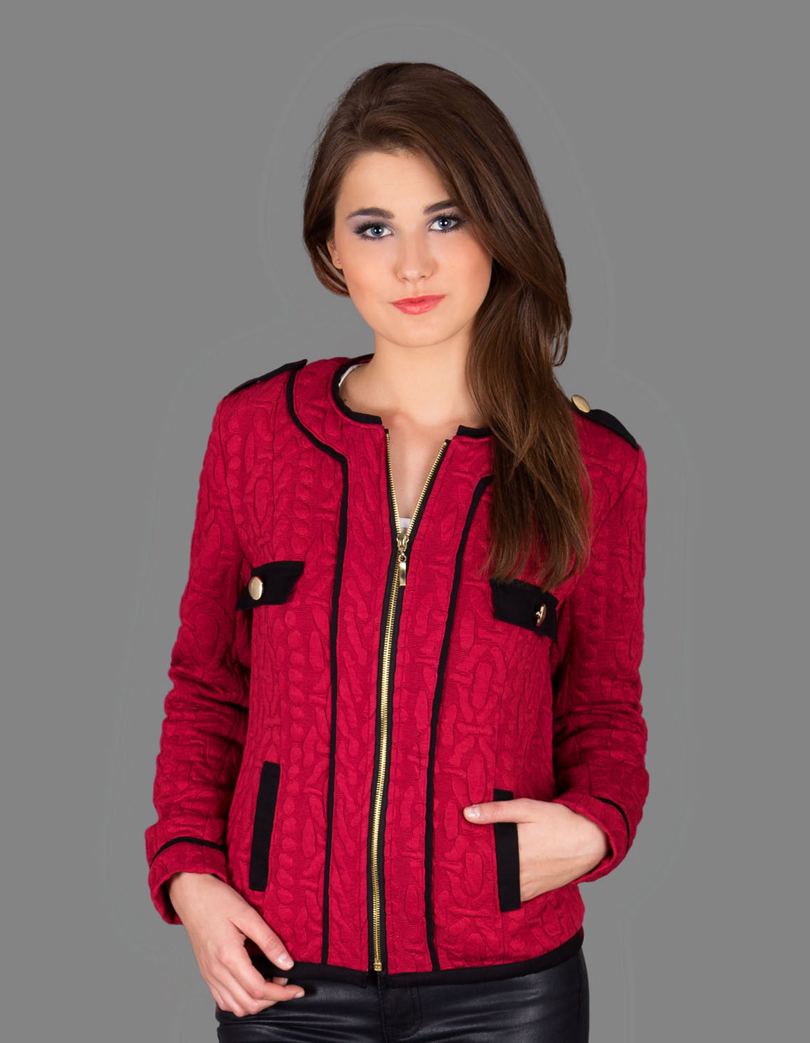 Lady in RED Jacket