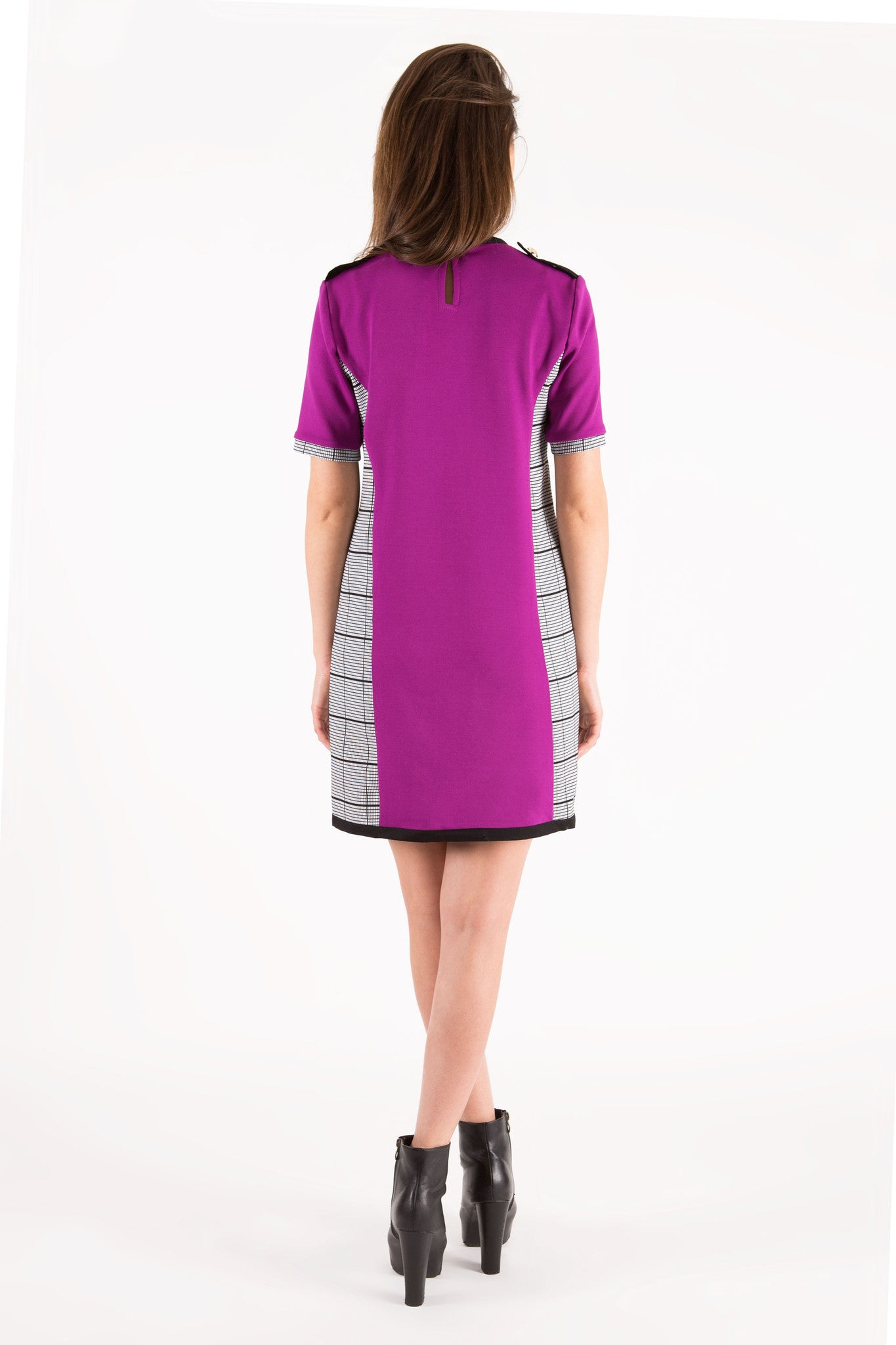 Fuchsia check Dress