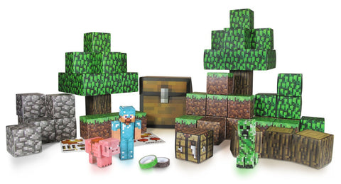 Minecfraft Papercraft Deluxe Overworld Set: $39.95