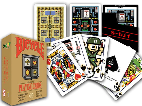 8-Bit Playing cards, Gold: $12.95
