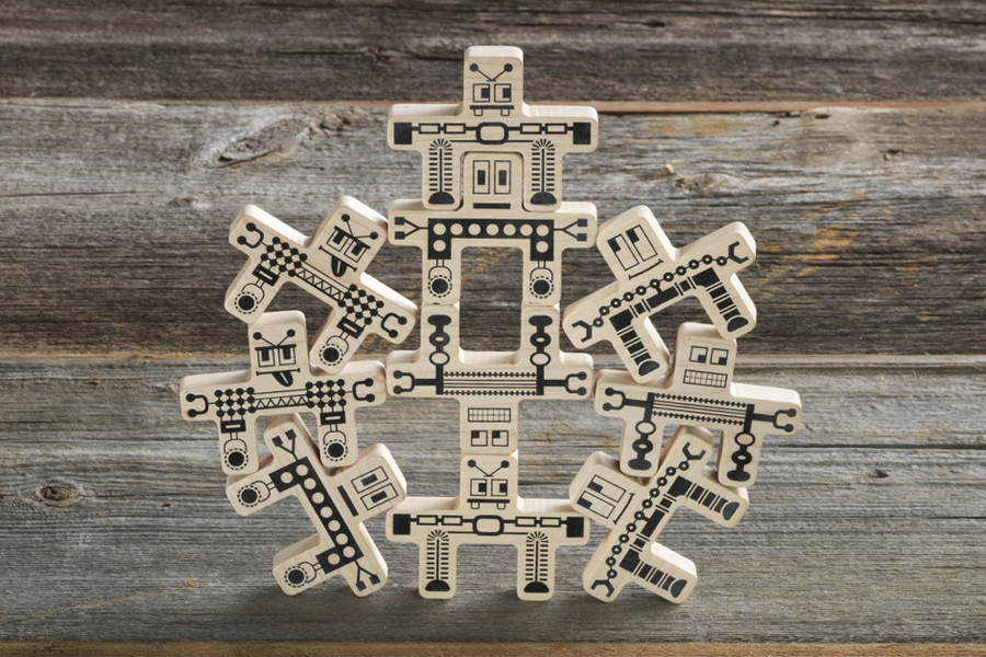 Whoa-Bots Wooden Stacking Toys