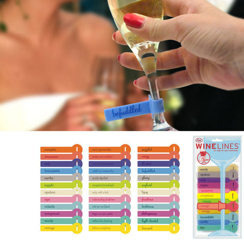Wine Lines Drink Markers: $9.95