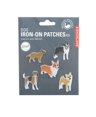 Dog Iron On Patches Small