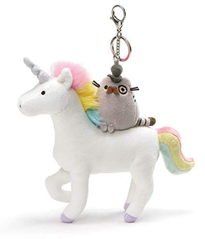 Fancy Pusheen On Unicorn Keyring