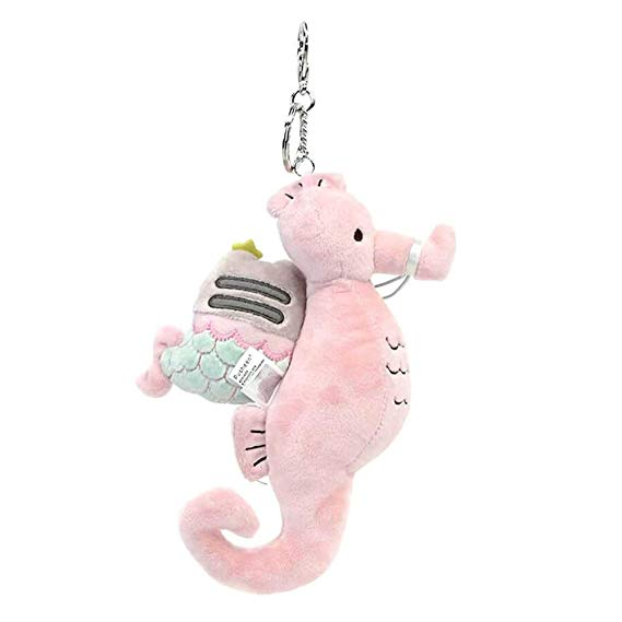 Mermaid Pusheen with Seahorse