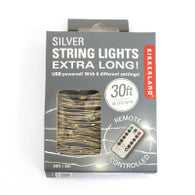 Silver String Lights With Remote