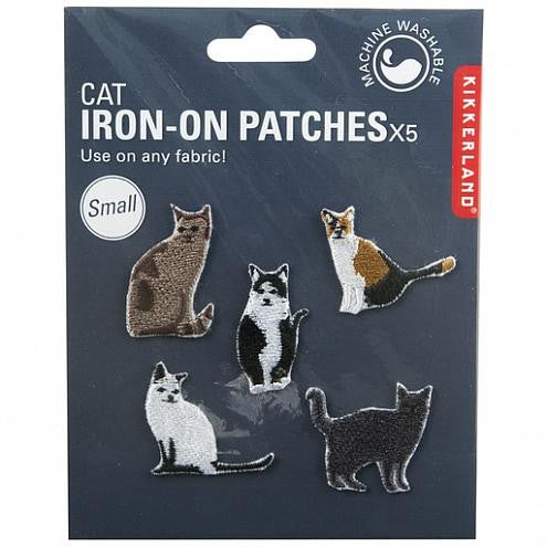 Cat Iron On Patches Small