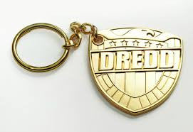 Judge Dredd Shield Keychain